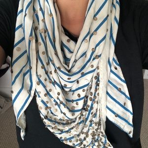 Anthropologie Striped Sequin Scarf or Shawl